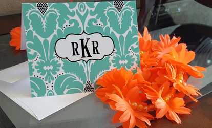 Shop Groupon Up to 81% Off Custom Flat or Folded Note Cards