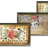 MLB Framed Map Collages with Game-Used Dirt