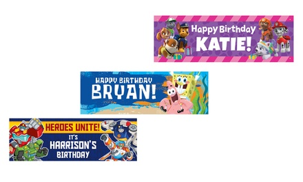 One or Two Custom TV Character Event Banners from TV's Toy Box (Up to 50% Off)