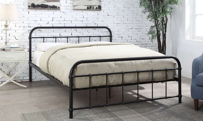Up To 65 Off Henley Metal Hospital Style Bed Groupon