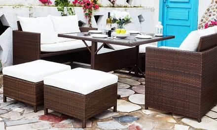 salon de jardin encastrable groupon. Black Bedroom Furniture Sets. Home Design Ideas