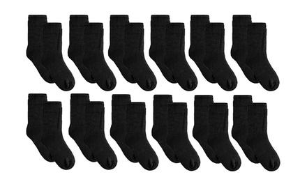 12 Pairs of Men's Black Thermal Socks for £9.95