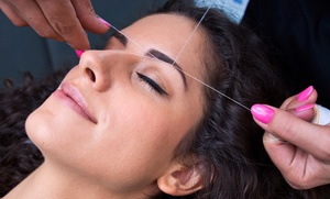 Brow and Upper Lip or Full Face Threading at Seva Riverdale (Up to 53% Off)