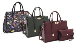 MK Belted Collection Satchel Handbag with Wallet