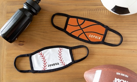 Personalized Sports Face Masks from Qualtry (Up to 62% Off). Four Options Available.