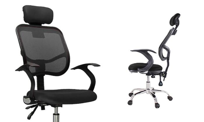 Sedia da ufficio ergonomica groupon goods
