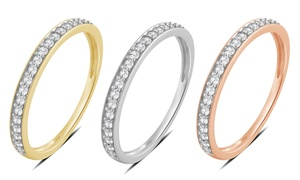 1/5 CTTW Diamond Wedding Band in 14K Solid Gold by Brilliant Diamond