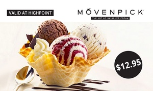 Mövenpick Highpoint: $12.95 for Two Ice Cream Tasting Baskets at Mövenpick, Highpoint (Up to $25.90 Value)