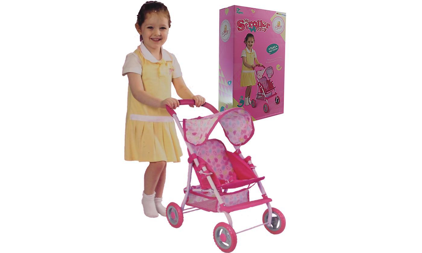 Baby Doll Pink Pram Toy Buggy