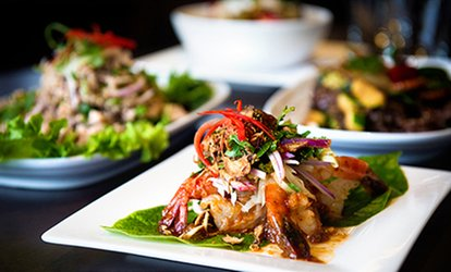 Two-Course Thai Meal with Side of Rice for Two or Four at Youmethai Restaurant (Up to 51% Off)