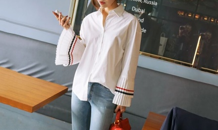 Pleated Bell Sleeve Shirt for £10.99