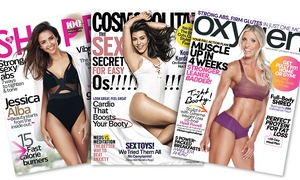 """Cosmopolitan, Shape, and Oxygen: One-Year Subscription to """"Shape"""" or """"Cosmopolitan"""", or a One- or Two-Year Subscription to """"Oxygen"""" (Up to 52% Off)"""