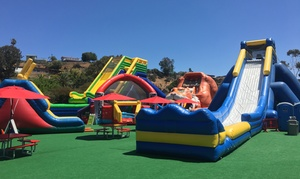 Inflatable World : All-Day Unlimited Play for One, Two, or Four Children at Inflatable World (Up to 50% Off)