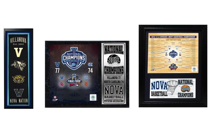 Villanova Men's Basketball 2016 National Champions Frames