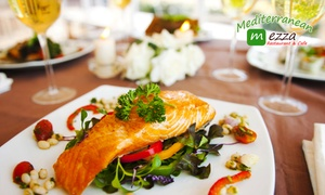 Mediterranean Mezza Restaurant And Cafe: 3-Course Mediterranean Dinner + Wine for 2 ($39) or 4 People ($75) at Mediterranean Mezza Cafe (Up to $199.40 Value)