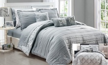 Deals on Monique Reversible Pleated Comforter Set with Sheets 10-Pc