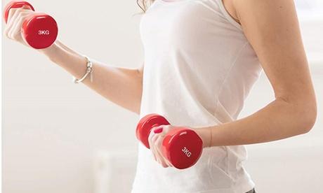 1 o 2 manubri in neoprene per esercizi di allenamento, disponibile in vari pesi e con spedizione gratuita