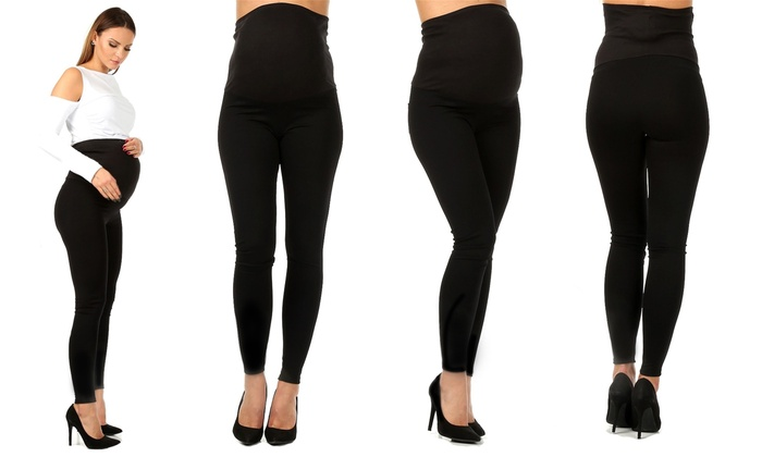 Groupon Goods Global GmbH: One or Two Pairs of Maternity Leggings in Choice of Size