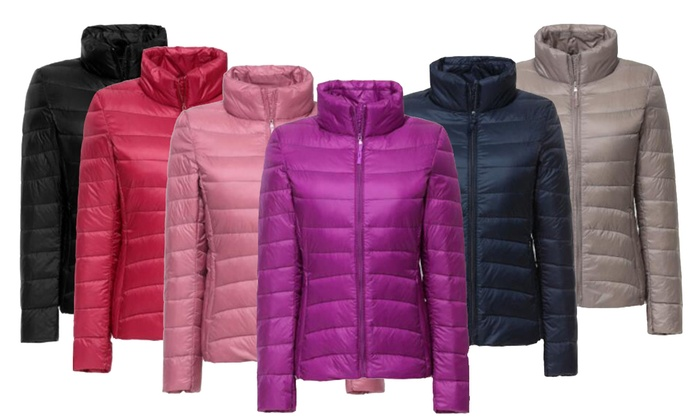 Women's Down Blend Puffer Jackets | Groupon Goods