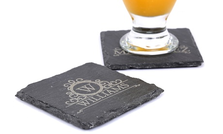 One or Two Personalized Slate Coasters from MonogramHub (Up to 75% Off) daac2677-ba18-4e0a-ab3d-f8608005df21