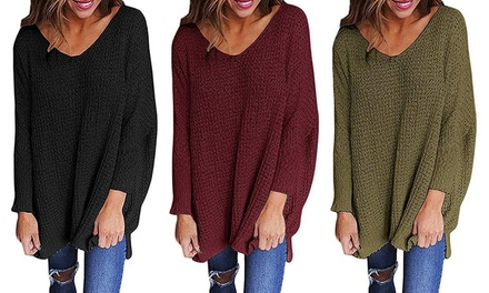Women's Oversized VNeck Sweater