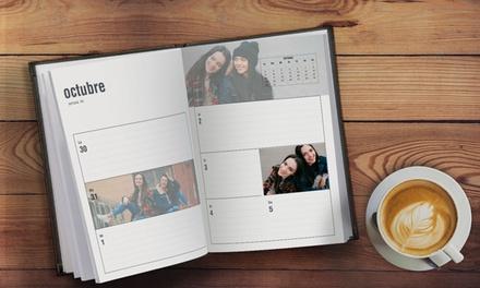 1 o 2 agendas con tapa de piel de imágenes personalizables con tamaño A5 y 108 páginas desde 7,99 € con Printer Pix