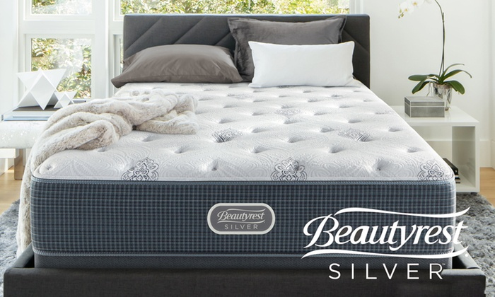 simmons beautyrest silver burkett plush mattress set free white glove delivery