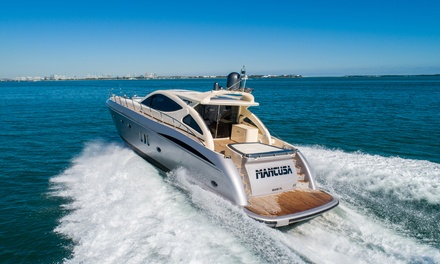 Four-, Six-, or Eight-Hour Boat Charter of the Gianetti 68' HT from Yacht Charter Miami (Up to 26% Off)