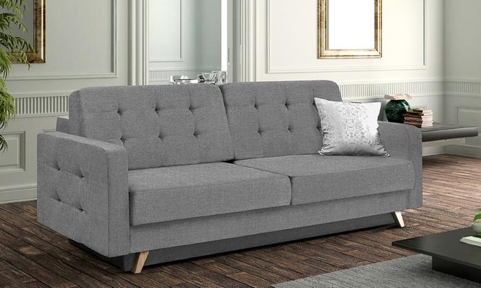 ... Groupon Goods Global GmbH: Selsey Living Sessel, Sofa Oder Ecksofa  Velvet In Grau ...