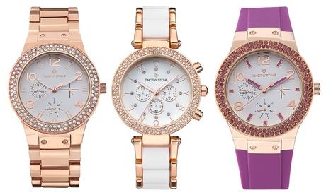 1 o 2 relojes Timothy Stone colección Rosegold con cristales Swarovski® (envío gratuito)