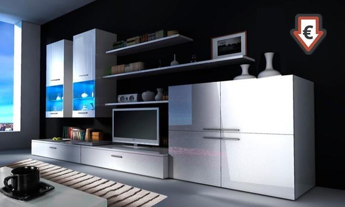 Parete soggiorno con luci LED | Groupon Goods