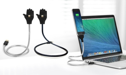 One or Two Charging Cables with Phone Holders