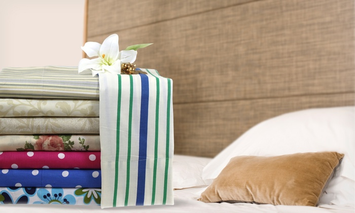 Castle Hill 300TC Printed Sheet Set: Castle Hill 300TC Printed Sheet Set (Up to 65% Off). Multiple Sizes and Prints. Free Shipping and Returns.