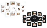 Wooden Picture Frame Wall Clock in Black or White from AED 99 (Up to 72% Off)