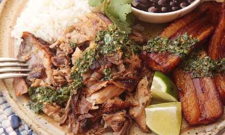 TwoCourse Caribbean Meal with a Cocktail for Two or Four at Mashup