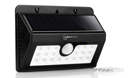 Auraglow Motion Sensor Wireless Solar Security Light: One for £12.98 or Two for £24.98