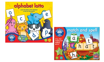 Orchard Toys Alphabet Lotto or Match and Spell Games from £6.50