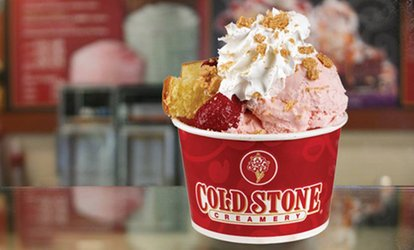 image for Two Love It Size with Optional Two Kid Size Ice Creams with Mix in Each at Cold Stone Creamery (Up to 39% Off)