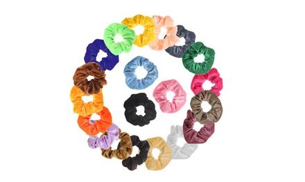 20 Pack of Hair Scrunchies Velvet Elastics Bobbles Hair Bands Scrunchy Hair Tie Ropes