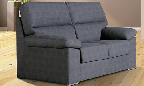 Sofá Pireo de 2 o 3 plazas con tapizado Ónix