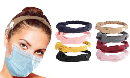 Button Mask Aid Headband Pack: Four ($9.95) or Eight ($18)