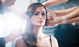 Aqua Blue Coiffure Et Spa: Haircut Package with Optional Capillary Treatment, Coloring or Highlights at Aqua Blue Coiffure et Spa (Up to 72% Off)