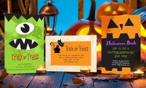 """Dinkleboo: 20, 40, or 60 Custom 4""""x6"""" Halloween Party Invitations from Dinkleboo (Up to 81% Off)"""