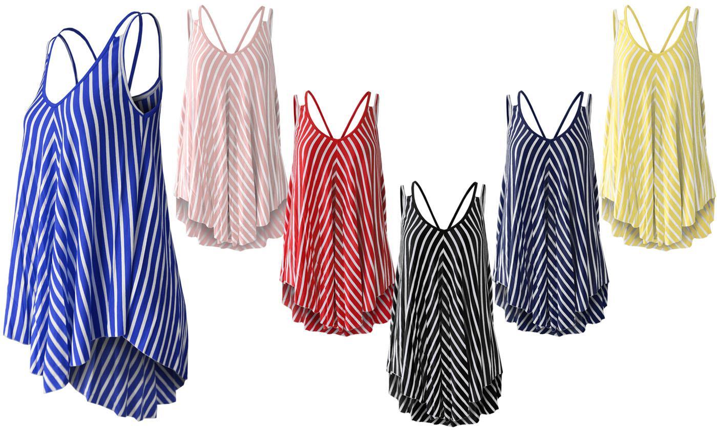 Women's Swing Vest Top in Stripe Print (£6.98)