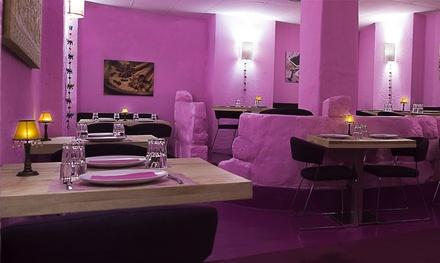 """Menú degustación """"Thali"""" para 2 personas con 5 especialidades, postre y bebida desde 19,90 € en Tariq"""