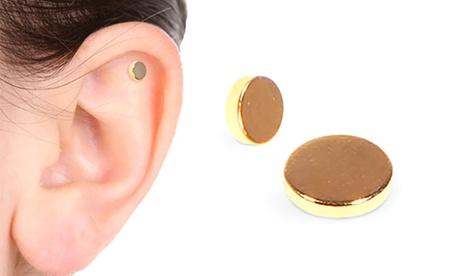 Fino a 4 paia di orecchini magnetici anti-tabagismo per smettere di fumare tramite il principio dell'agopuntura