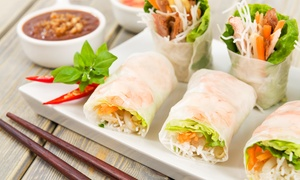 Full Moon Asian Thai Restaurant: Thai Dinner for Two or Four or Lunch for Two at Full Moon Asian Thai Restaurant (Up to 53% Off)