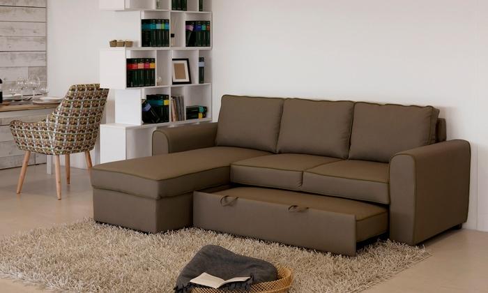 Divano Letto Angolare : Fino a su divano letto angolare ely posti groupon