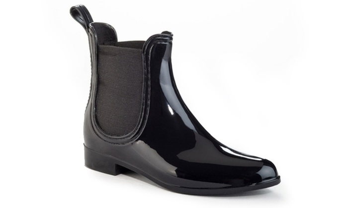 187fbe074d9 Women's Slip-On Elastic Glossy Ankle Boots