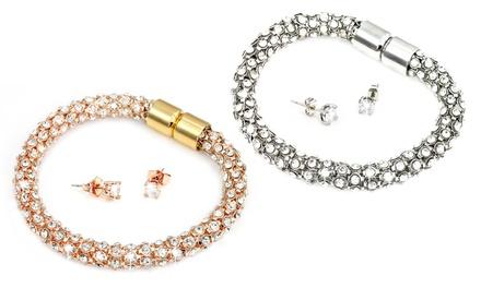 1 of 2 sieradensets Crystal Mesh van het merk Victoria's Candy versierd met kristallen